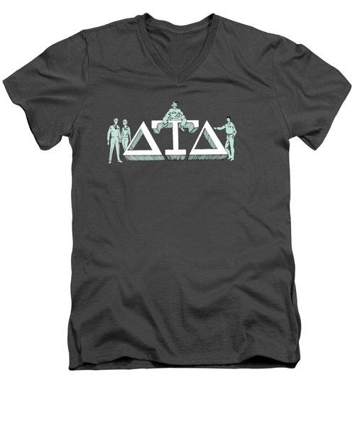 Delts Men's V-Neck T-Shirt by Julio Lopez