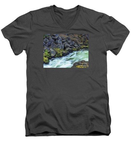 Deluge At The Falls Men's V-Neck T-Shirt