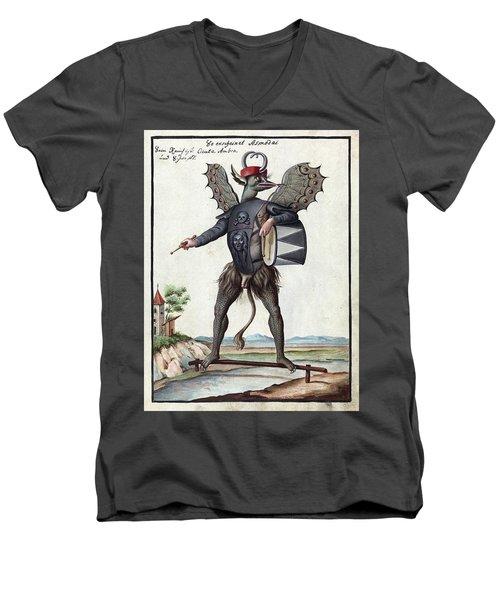 Demon, 1057 Men's V-Neck T-Shirt