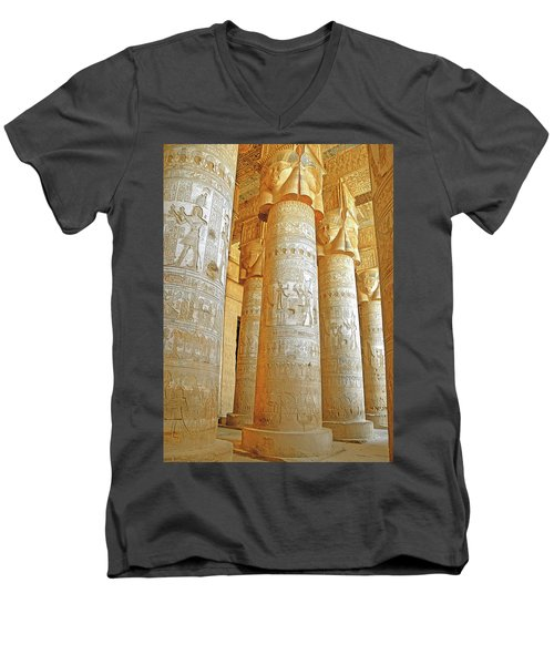 Dendera Temple Men's V-Neck T-Shirt