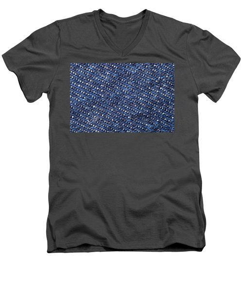 Denim 674 Men's V-Neck T-Shirt by Michael Fryd