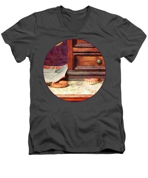 Dentist - Dentures Men's V-Neck T-Shirt by Susan Savad
