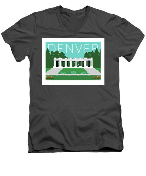 Denver Cheesman Park/lt Blue Men's V-Neck T-Shirt