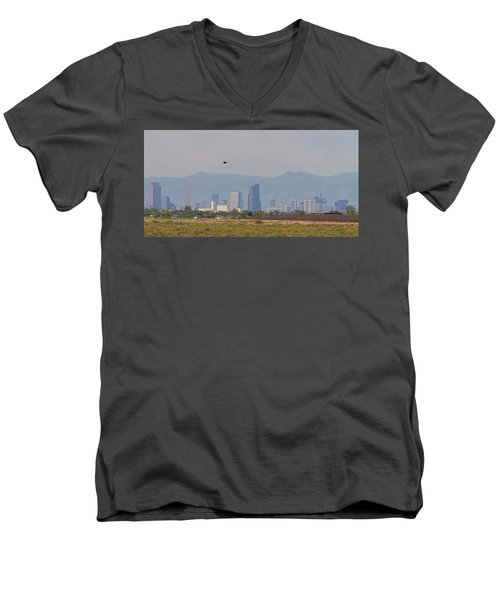 Denver Colorado Pretty Bird Fly By Men's V-Neck T-Shirt by James BO Insogna