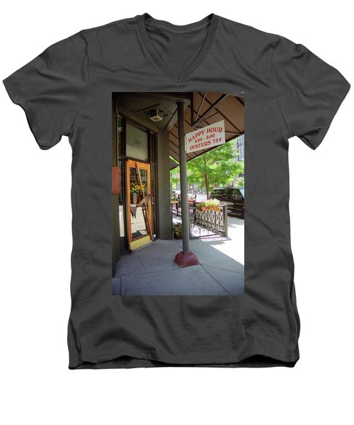 Men's V-Neck T-Shirt featuring the photograph Denver Happy Hour by Frank Romeo