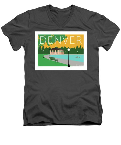 Denver Washington Park/gold Men's V-Neck T-Shirt