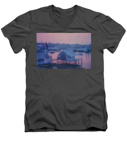 Departing Nantucket Men's V-Neck T-Shirt