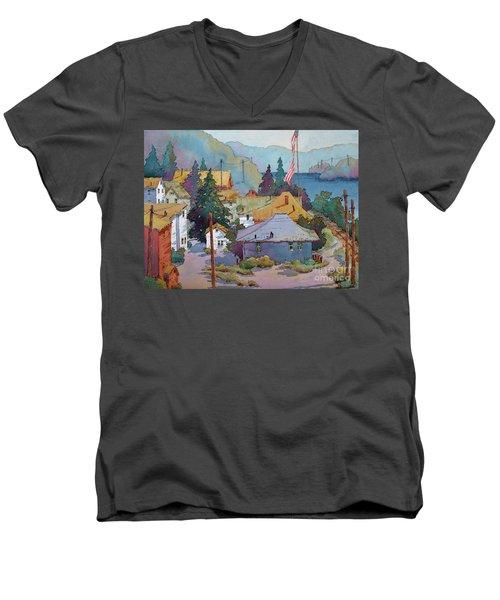 Depot By The River Men's V-Neck T-Shirt