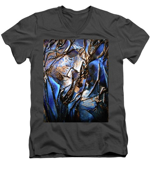 Depth Men's V-Neck T-Shirt by Angela Stout