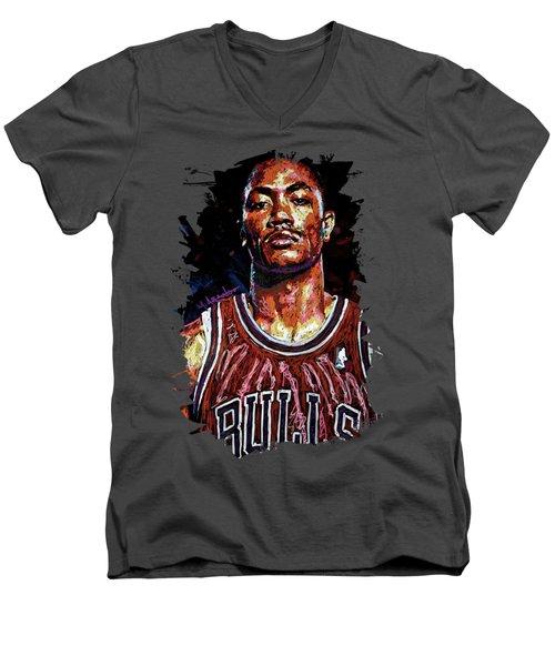 Derrick Rose-2 Men's V-Neck T-Shirt