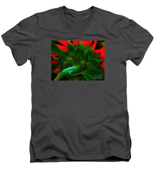 Men's V-Neck T-Shirt featuring the photograph Derriere by Elfriede Fulda