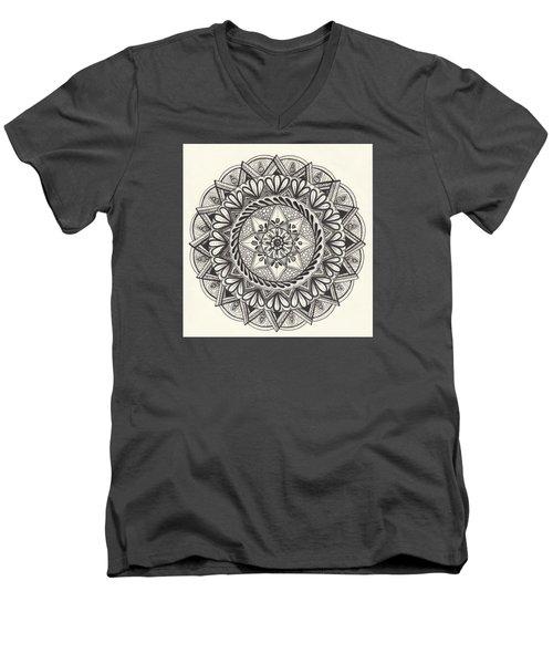 Des Tapestry Medallion Men's V-Neck T-Shirt by Kathy Sheeran
