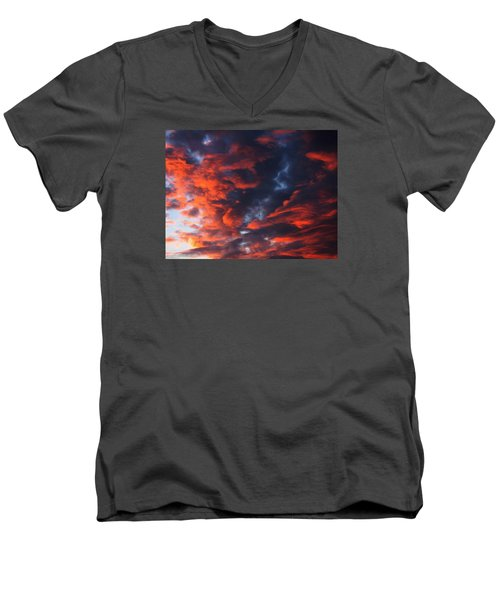 Descending Men's V-Neck T-Shirt