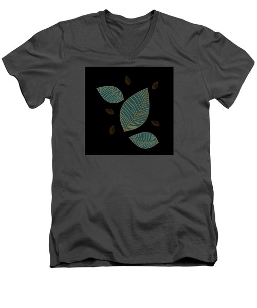 Descending Leaves Men's V-Neck T-Shirt by Kandy Hurley