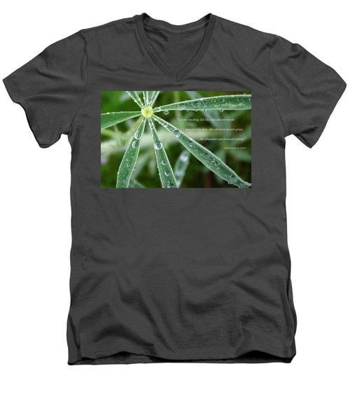 Descending Words Like Dew Men's V-Neck T-Shirt