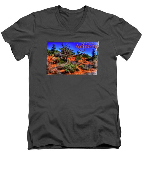 Desert And Mountains Men's V-Neck T-Shirt