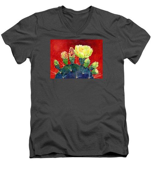 Desert Bloom 3 Men's V-Neck T-Shirt