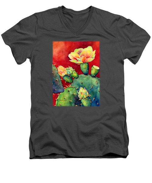 Desert Bloom Men's V-Neck T-Shirt by Hailey E Herrera