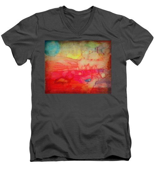 Desert Burn Men's V-Neck T-Shirt