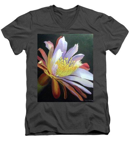 Desert Cactus Flower Men's V-Neck T-Shirt