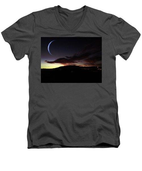 Desert Crescent Men's V-Neck T-Shirt