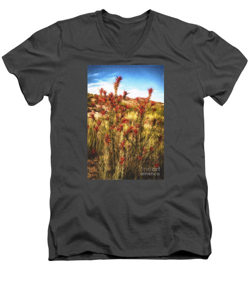 Desert Flora  ... Men's V-Neck T-Shirt