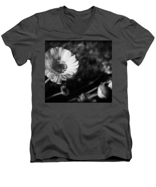 Desert Flower In Holga Mood Men's V-Neck T-Shirt by Carolina Liechtenstein