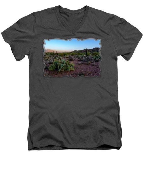 Desert Foothills H29 Men's V-Neck T-Shirt by Mark Myhaver