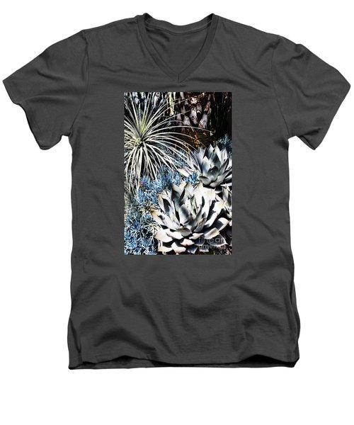Men's V-Neck T-Shirt featuring the photograph Desert Garden by Judy Wolinsky
