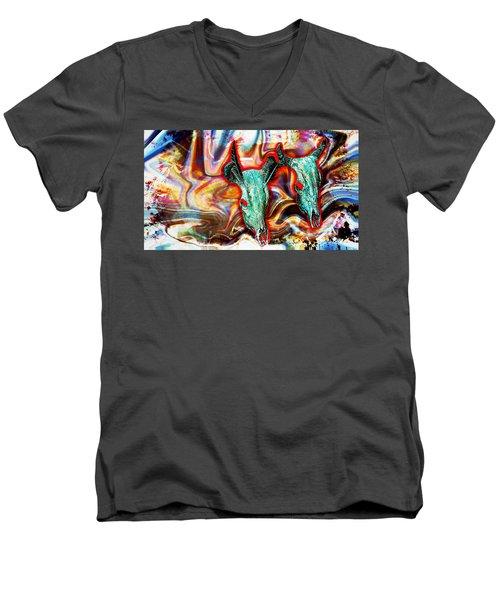 Desert Hallucination Men's V-Neck T-Shirt by Ian Gledhill