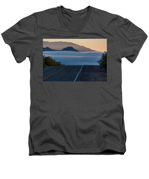 Desert Inversion Highway Men's V-Neck T-Shirt