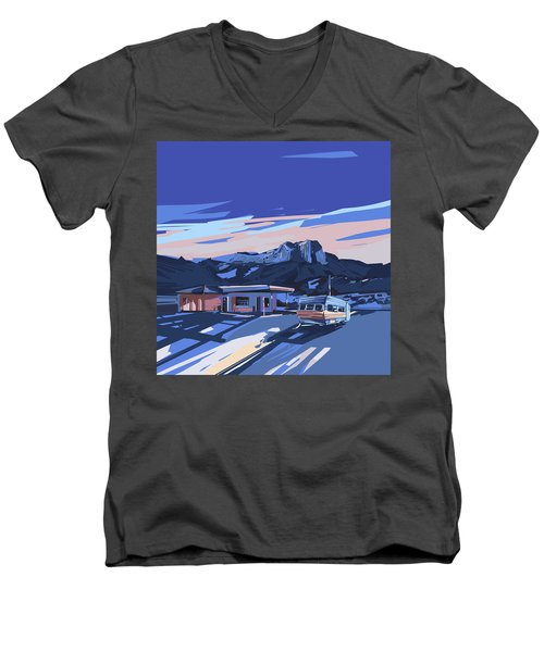 Desert Landscape 2 Men's V-Neck T-Shirt by Bekim Art