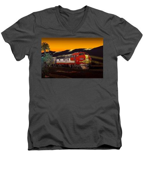 Desert Palms Men's V-Neck T-Shirt