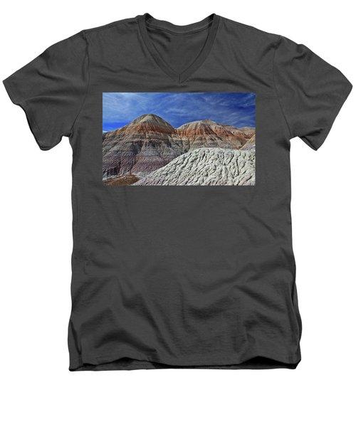 Men's V-Neck T-Shirt featuring the photograph Desert Pastels by Gary Kaylor