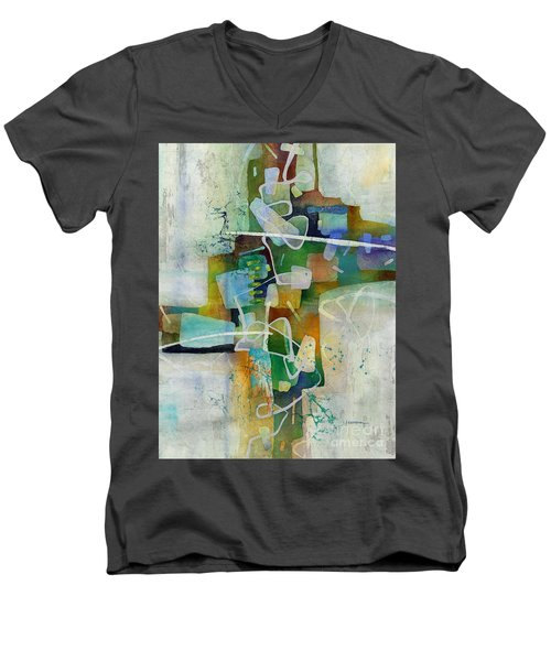 Desert Pueblo  Men's V-Neck T-Shirt by Hailey E Herrera