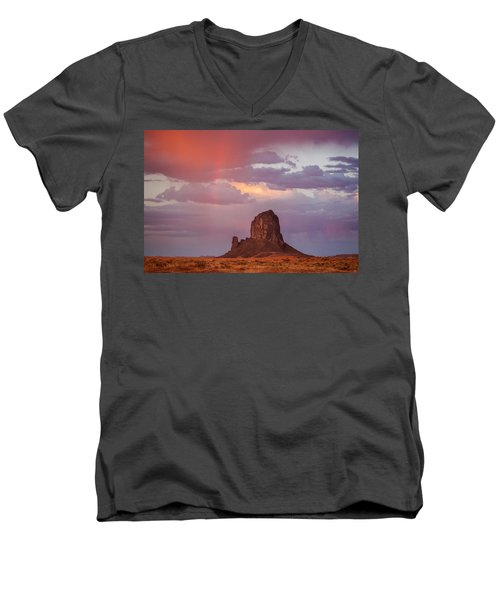 Desert Rainbow Men's V-Neck T-Shirt