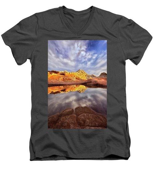 Desert Rock Drama Men's V-Neck T-Shirt by Nicki Frates