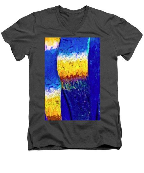 Men's V-Neck T-Shirt featuring the photograph Desert Sky 1 by Paul Wear