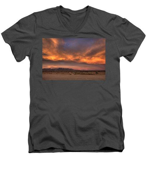 Desert Sky Burning Men's V-Neck T-Shirt