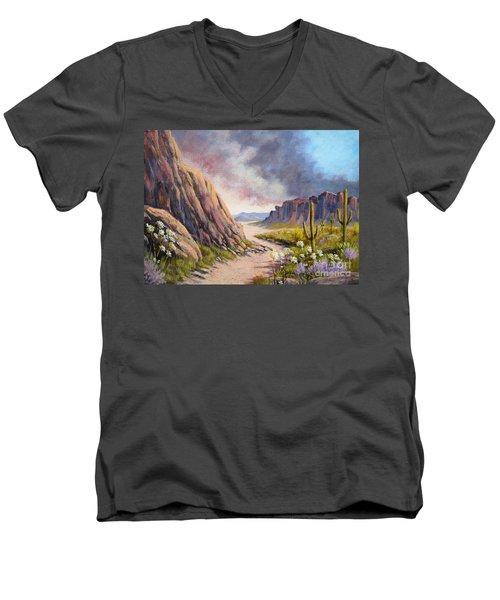 Desert Storm Men's V-Neck T-Shirt