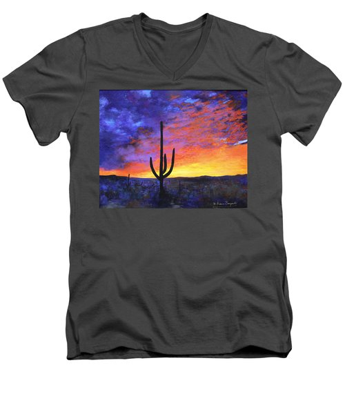 Desert Sunset 4 Men's V-Neck T-Shirt