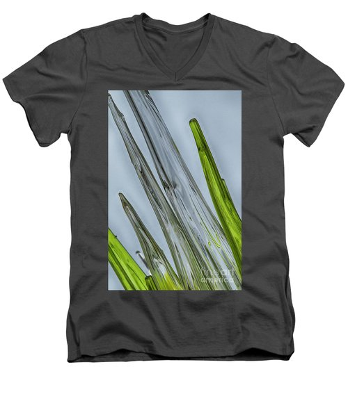 Glass Men's V-Neck T-Shirt by Anne Rodkin
