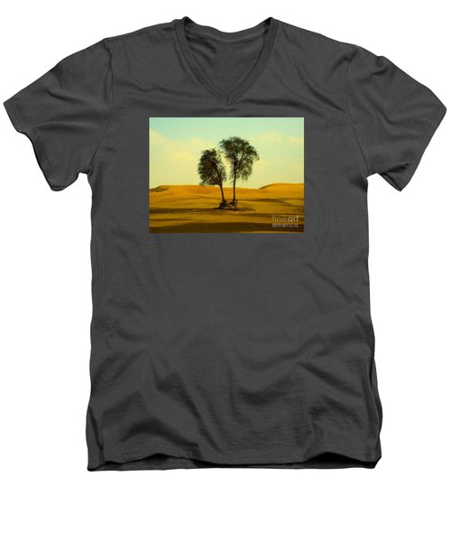Desert Trees Men's V-Neck T-Shirt