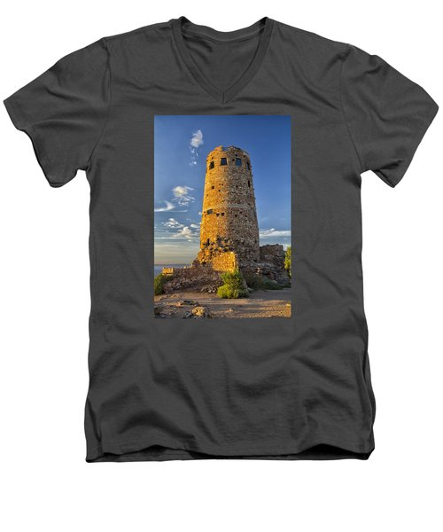 Men's V-Neck T-Shirt featuring the photograph Desert View by Tom Kelly