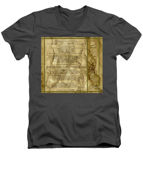 Desiderata #8 Men's V-Neck T-Shirt by Claudia Ellis