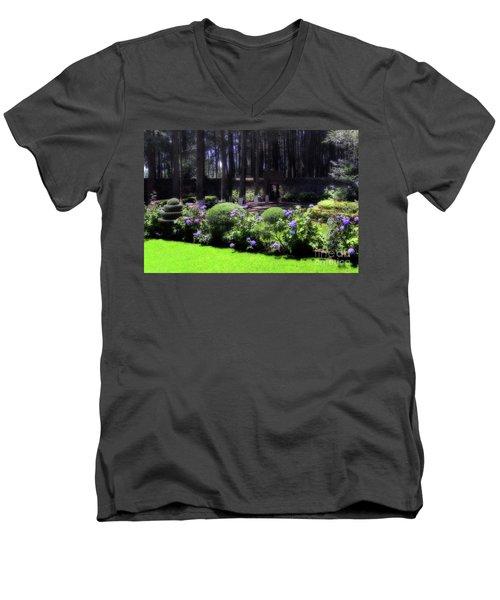 Desierto De Los Leones 1 Men's V-Neck T-Shirt by Ana Mireles