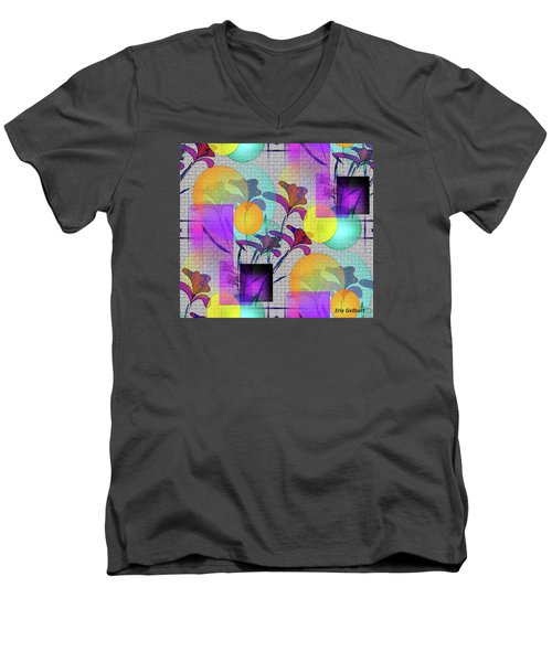 Design #3 Men's V-Neck T-Shirt by Iris Gelbart