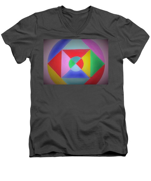 Design Number One Men's V-Neck T-Shirt