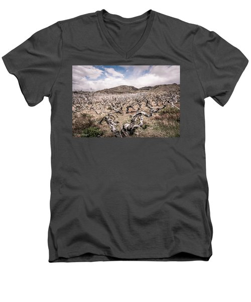 Men's V-Neck T-Shirt featuring the photograph Desolation by Andrew Matwijec