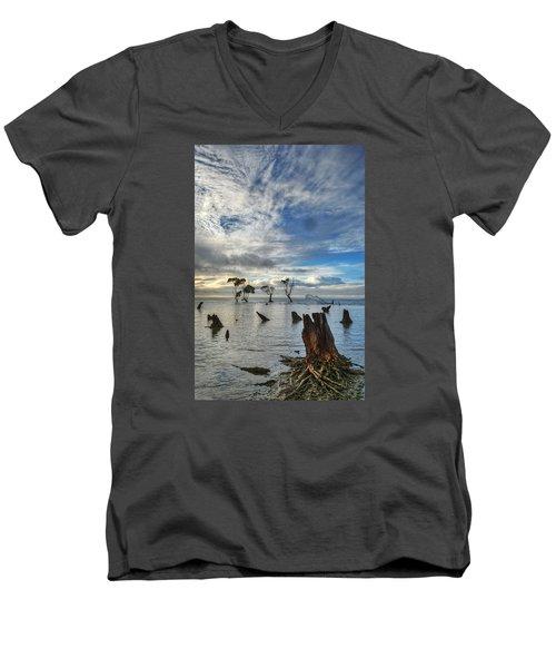 Desolation Men's V-Neck T-Shirt by Robert Charity